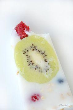 Yogurt Fruit Granola Popsicles 3