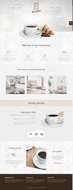 Website Design Layout, Homepage Design, Web Layout, Website Design Inspiration, Layout Design, Website Designs, Bakery Website, Restaurant Website Design, Design Café