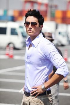 Daniel Henney-- I fell in love with @Daniel Henney in The Fugitive: Plan B. This is one sexy man.