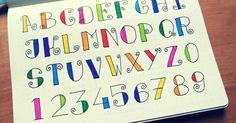 Lettering et calligraphie pour le bullet journal   Bullet journal   Pinterest