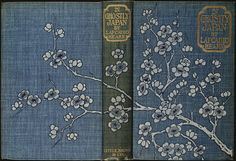 blueskybutterflystudio: yama-bato: In ghostly Japan Author: Hearn, Lafcadio, Date: 1899 Place/Time: United States Publisher: Boston, Massachusetts: Little, Brown and Company Vintage Book Covers, Vintage Books, Old Books, Antique Books, Book Cover Art, Book Art, Foto Transfer, Scrapbook Blog, Beautiful Book Covers