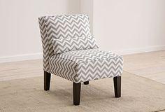 gray chevron armless chair