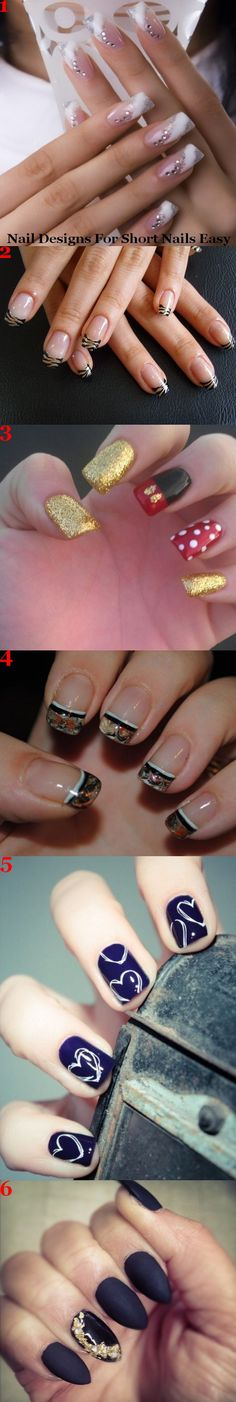 Nail designs for short nails easy.