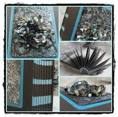Album x mit kombinierter Bindung (Ribbon-Stick) und Mixed-Media-Cover Ribbon Sticks, Album, Mixed Media, Cover, Crafts, Manualidades, Slipcovers, Mixed Media Art, Craft