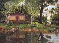 This 1000 piece jigsaw puzzle, based on the artwork of acclaimed painter Kim Norlien, celebrates the good times and memories of a day spent at the lake during a simpler time. Painting predominantly in acrylics, the result of Norlien's work is subtle, yet powerful – vibrant, lifelike and compelling. His award-winning nostalgia pieces capture the joy and simplicity of days gone by, while his equally captivating wildlife scenes invite viewers to peacefully gaze upon wildlife in its natural…