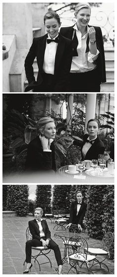 Emily Blunt and Cate Blanchett, photographed by Peter Lindbergh for IWC Schaffhausen (2014) ~ Two of my fave gals! Ugh, I can't even tell you how much I love this.: