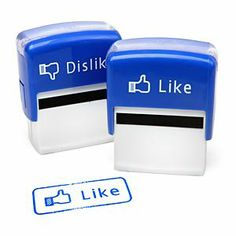 Like / Dislike Stamp Set. Each Like/Dislike Stamp Set comes with two, self-inking stamps (that's why we call it a set). Use the Like stamp for things you like and the Dislike stamps for things you don't like. Office Stamps, Grading Papers, Little Presents, Work Gifts, Web Design, Creative Design, Graphic Design, Cool Office, Facebook Likes
