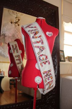Hens party sash that i made for my mum, cos she is a vintage kinda lady!