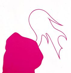 """Arturo Herrera, Get It Right (Pink), 2005, painted cut paper on paper, 27½ x 27½""""."""