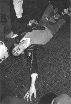 The Nips (The Nipple Erectors) punk gig at The Roxy March 1977 - Shane Macgowan - Vocals- wearing Ms Shanne Bradley's blazer!