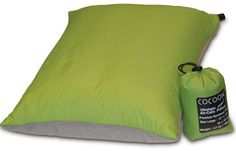Inflatable Pillow - not only good for camping but long bus and planes trips!  #travel #backpacking #bedding