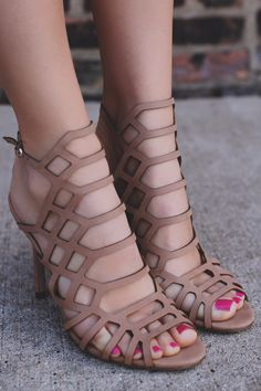 Natural Caged Cutout Stiletto Heel Sylvia-11B – UOIOnline.com: Women's Clothing Boutique