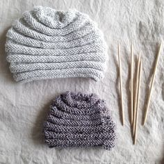 Little alpaca handknitted hats for two siblings from booq_s t u d i o