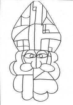 Mondrian, Ecole Art, Saint Nicholas, Kids Crafts, Saints, Preschool, Christmas, Grammar, Kunst