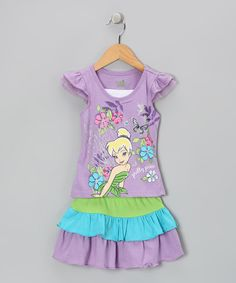 Take a look at this Violet Pretty Pixie Tee & Tiered Skirt - Infant & Toddler by Disney on #zulily today!