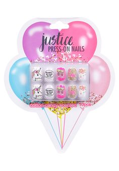 Shop Justice for pretty girls' nail polish, fun nail art & cute press on nails. Our nail polish sets are just one of the ways she can show off her personal style! Fake Nails For Kids, Nail Art For Girls, Justice Makeup, Unicorn Nails Designs, Shop Justice, Kids Makeup, Nail Polish Sets, All I Ever Wanted, Press On Nails
