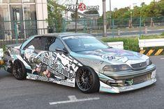 Anime Stickers, Car Stickers, Jdm, Mazda Roadster, Vinyl Wrap Car, Racing Car Design, Odaiba, Car Wrap, Gta 5