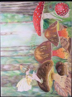 Color pencils -FB polychromos and Caran d'ache luminance