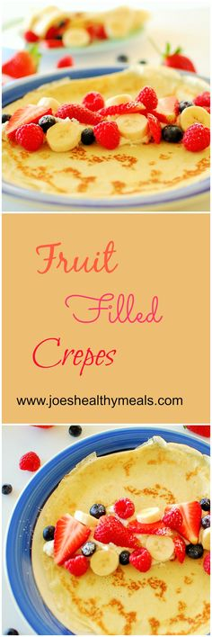 Fresh fruit filled crepes. Clean Eating Diet Plan, Clean Eating Recipes, Cooking Recipes, Eating Fast, I Love Food, Good Food, Yummy Food, Healthy Food, Brunch Recipes