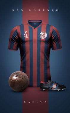 Club Atlético San Lorenzo de Almagro - Vintage clubs on Football Ads, World Football, Vintage Football, Sport Football, Football Jerseys, Jersey Retro, Camisa Retro, Sports Uniforms, Soccer Kits