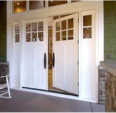 I really like the double doors for the entry but I would add transom ...