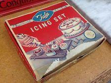Vintage 40s 50s Tala Cake Icing Set Advertising Kitchen Baking Antique Wedding