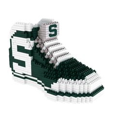 Michigan State Spartans NCAA 3D Brxlz Sneaker Puzzle Building Blocks Set (Pre Order - Ships In April)
