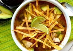 Gonna Want Seconds - My Favorite Tortilla Soup use low carb Tortias for a S meal