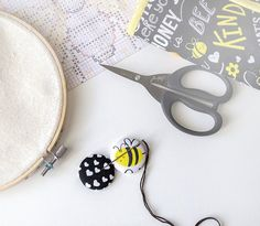 Bee needle minders and small travel roll organizer sewing hand | Etsy