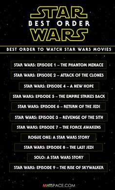 Star Wars - What is the Best Order to Watch Star Wars Movies