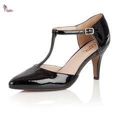 Lotus  Camomile, Barre en T femme - noir - Black (Black Shiny), 40 - Chaussures lotus (*Partner-Link)
