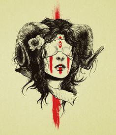 Image of Ram Horned Girl