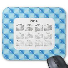 Blue Diamonds 2014 Calendar Mouse Pad Custom Design from Calendars by Janz