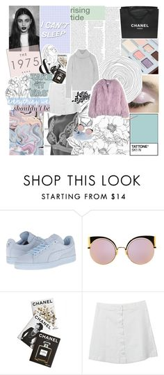 """GOTTA SAY SOMETHIN' TO YOU"" by celhestial ❤ liked on Polyvore featuring Kenzie, Chanel, Péro, Puma, Fendi, Assouline Publishing and The Elder Statesman"