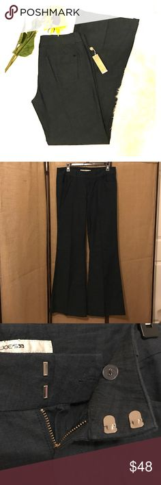 NWT Joes Trouser Flare This is a brand new pair of wide led trouser flare pants by Joe's!  They are made of a lightweight cotton material much like linen. Dark blue color. 33 inch inseam. Joe's Jeans Jeans Flare & Wide Leg