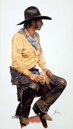 Colorado Coolade by Gordon Snidow Western Hats, Western Cowboy, Southwestern Art, Western Comics, West Art, Le Far West, Fine Art Photo, Mountain Man, Old West