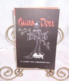 Original Dance Show Program, China Doll Nightclub & Restaurant, New York City Nightclub Venue, Midto