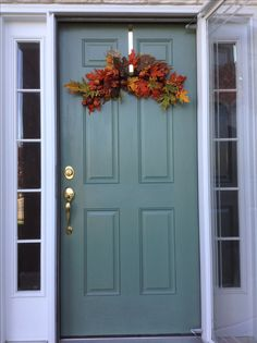 Front Door Makeover Sherwin Williams Rookwood Blue Green