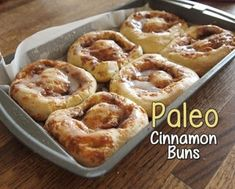 This Paleo Cinnamon Roll recipe is a sweet success! It's not easy for people to go completely gluten and dairy-free. It was frustrating at first because I like to bake and I found most recipes didn't work out for me the way they were supposed to. Paleo Bread, Paleo Baking, Paleo Pancakes, Bread Baking, Paleo Sweets, Paleo Dessert, Healthier Desserts, Paleo Cinnamon Rolls, Cinnamon Pretzels