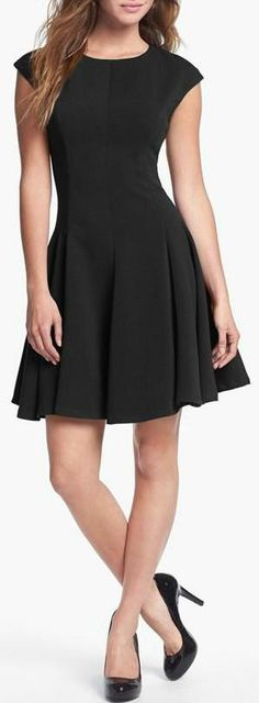 Eliza J Ponte Knit Skater Dress... Love this Dress... Just Add Some Cool Accessories!!!