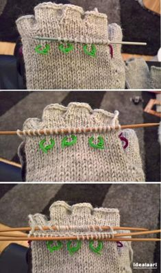 IdeaLaari Crochet Mittens, Knitting Socks, Knit Crochet, Crochet Hats, Baby Knitting Patterns, Mitten Gloves, Fingerless Gloves, Diy And Crafts, Weaving