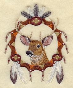 DEER DREAM CATCHER by LilyLousCreations on Etsy