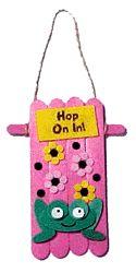 craft stick door hanger