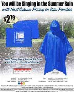 Rain Ponchos are a unique giveaway item