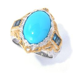 Another very nice one. Love the blue. Gems en Vogue II Sleeping Beauty Turquoise, London Blue Topaz & White Sapphire Ring