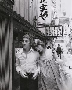 Serge Gainsbourg and stunning Jane Birkin while she was pregnant with Charlotte in 1971