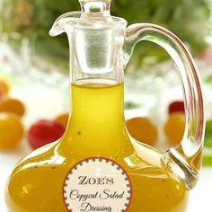 Zoe's Copycat Salad Dressing - if you've never been to Zoe's Kitchen, you'll flip over this delicious dressing. If you've been there, I know you'll be quite thrilled to have this recipe!