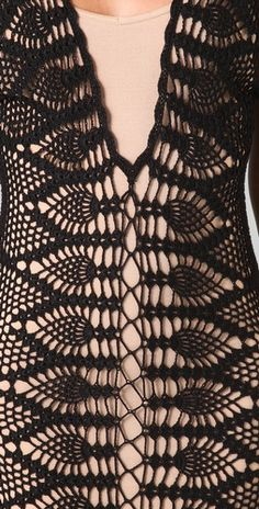 detail crochet dress