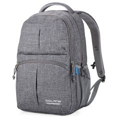 Bolang Water Resistant Nylon School Bag College Laptop Backpack 8459 (Grey)