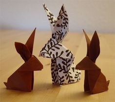 Origami Bunnies – Life Wiki Source by Dragon Origami, Origami Butterfly, Origami Flowers, Origami Paper Folding, Diy Origami, Origami Tutorial, Origami Design, Kirigami, Origami Rabbit Instructions
